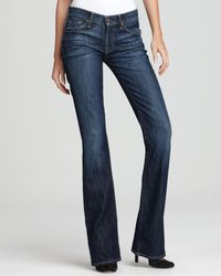 7 For All Mankind - Blue Jeans - Petite Bootcut Jeans In Nouveau New York Dark - Lyst