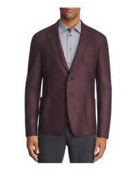 Armani | Red Marled Classic Fit Sport Coat for Men | Lyst