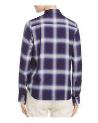 Vince - Blue Utility Plaid Shirt - Lyst