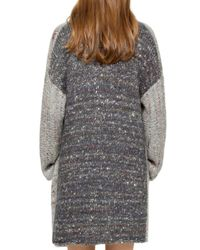 Zadig & Voltaire - Gray Mia Two-tone Open-front Cardigan - Lyst