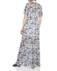 BCBGeneration - Multicolor Slit Floral Print Maxi Dress - Lyst
