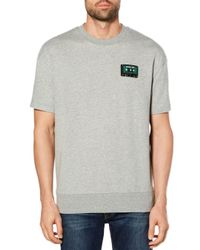 Original Penguin - Gray Cassette Short Sleeve Sweatshirt Tee for Men - Lyst