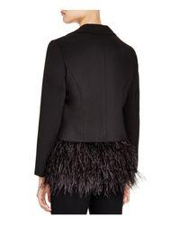 Lucy Paris - Black Feather Trim Blazer - Bloomingdale's Exclusive - Lyst