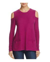 Lisa Todd - Purple The Flirt Cold-shoulder Sweater - Lyst