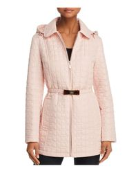 Kate Spade - Pink Bow Quilted Coat - Lyst