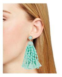 BaubleBar - Blue Beaded Tassel Earrings - Lyst