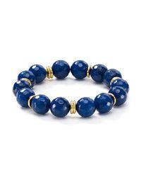 Bourbon and Boweties - Blue Stretch Bracelet - Lyst