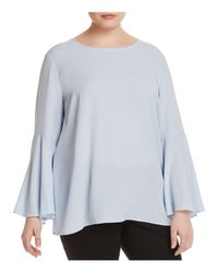 Vince Camuto Signature Blue Bell Sleeve Blouse
