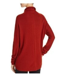 Theory - Red Norman B Funnel Neck Cashmere Sweater - Lyst