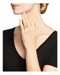 Judith Ripka | Metallic Bermuda Pear Ring With Canary Crystal | Lyst