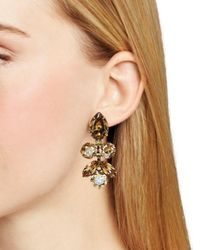 Sorrelli - Metallic Lotus Bloom Swarovski Crystal Drop Earrings - Lyst