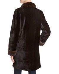 Maximilian - Black X Trilogy Reversible Sheared Mink Coat - Lyst