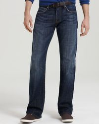 7 For All Mankind | Blue Brett A-pocket Bootcut Fit Jeans In New York Dark for Men | Lyst