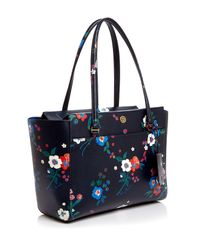 Tory Burch | Blue Parker Floral Print Small Tote | Lyst