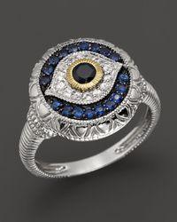 Judith Ripka | Metallic Sterling Silver Evil Eye Ring | Lyst