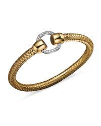 Roberto Coin | 18k Yellow And White Gold Primavera Diamond Bracelet | Lyst