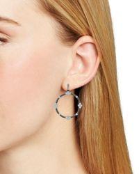 Freida Rothman - Metallic Four Point Hoop Earrings - Lyst