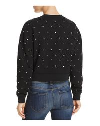Aqua - Black Studded Sweatshirt - Lyst