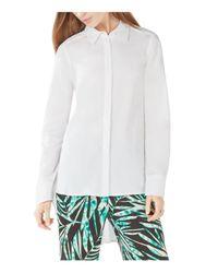 BCBGMAXAZRIA - White Aylin High/low Shirt - Lyst