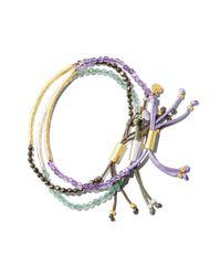 Gorjana - Gray Pyrite Strength Bracelet - Lyst
