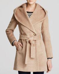 Trina Turk Natural Grace Hooded Alpaca Coat