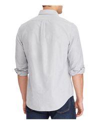 Polo Ralph Lauren - Gray Cotton Classic Fit Button-down Shirt for Men - Lyst