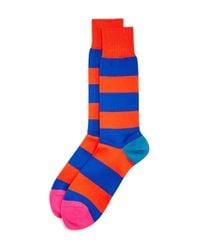 Paul Smith - Orange Parton Stripe Dress Socks for Men - Lyst