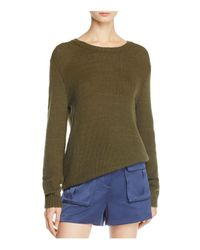 Theory - Green Yulia Drop-shoulder Sweater - Lyst