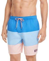 Vineyard Vines - Blue Island Stripe Chappy Swim Trunks for Men - Lyst