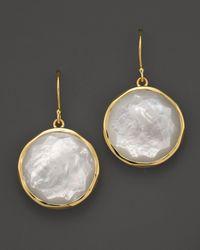 Ippolita - Metallic 18k Yellow Gold Large Lollipop Earrings In Mother-of-pearl - Lyst