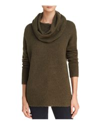 French Connection - Green Weekend Cowl Neck Ribbed-trim Sweater - Lyst