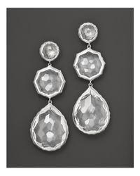 Ippolita - Metallic Sterling Silver Rock Candy Crazy 8's Earrings In Clear Quartz - Lyst