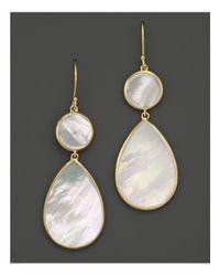 Ippolita | Metallic 18k Gold Polished Rock Candy 2 Drop Earrings In Mother-of-pearl | Lyst
