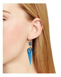 Alexis Bittar - Blue Satellite Crystal Spike Drop Earrings - Lyst