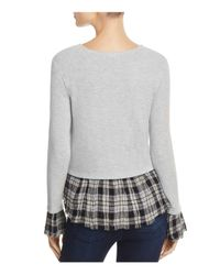 Generation Love - Gray Noa Layered-look Top - Lyst