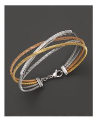 "Charriol | Multicolor ""classique"" Tri Color Diamond Bar Bracelet 