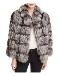 Maximilian | Metallic Nafa Fox Fur Jacket | Lyst
