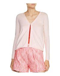 Maje - Pink Marcia Zip-detail Cardigan - Lyst