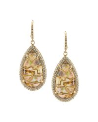 ABS By Allen Schwartz - Metallic Teardrop Earring - Lyst