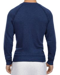 2xist - Blue French Terry Sweatshirt for Men - Lyst