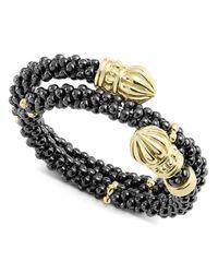 Lagos - Metallic Gold & Black Caviar Collection 18k Gold & Ceramic Wrap Ring - Lyst