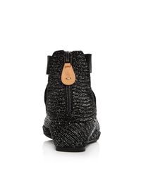 Gentle Souls - Black Women's Lisa Glitter Snake-embossed Demi Wedge Pumps - Lyst