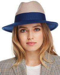 Aqua - Blue Color-block Wool Felt Fedora - Lyst