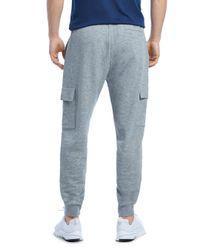 2xist - Blue Cotton Blend Cargo Sweatpants for Men - Lyst