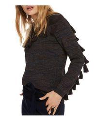 Scotch & Soda - Black Tassel Trim Sweater - Lyst