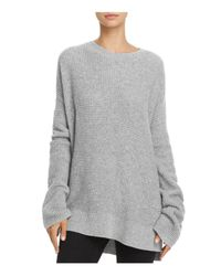 Theory - Gray Bicep Bell-sleeve Thermal Cashmere Sweater - Lyst
