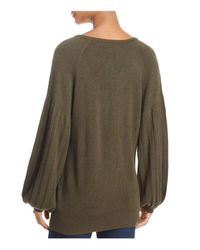 Ella Moss | Green Francesca Wide-sleeve Sweater | Lyst