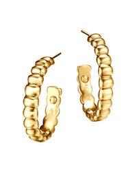 John Hardy | Metallic Bedeg 18k Gold Small Hoop Earrings | Lyst