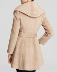 Trina Turk - Natural Grace Hooded Alpaca Coat - Lyst