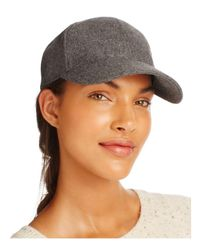 august hat company - Gray Solid Baseball Cap - Lyst